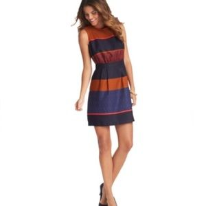 Ann Taylor Loft mosaic striped sleeveless dress 10